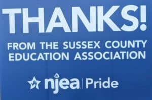 Sussex County Education Association Covid Pride Event