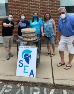 SEA Executive Committee provided food to our essential workers at Newton Memorial Hospital